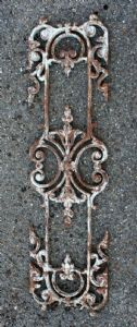 Antique cast iron railing elements. Period 1800.