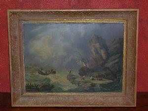 Storm - Oil Painting-primi'800-