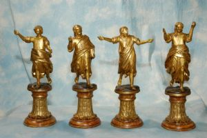 "Wooden statuettes ""Four Evangelists"""