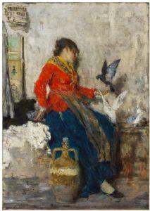 Giacomo Favretto, The Pigeon Pigeon, 1882)