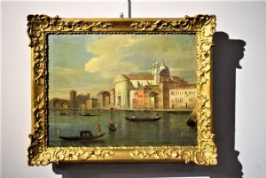 Venedig Palazzo Ducale und die Giudecca.